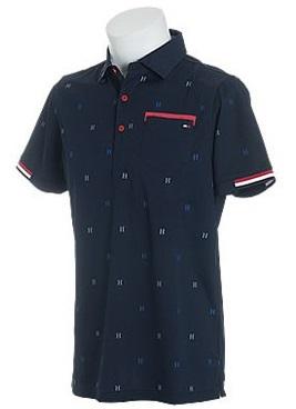 Tommy Hilfiger GOLF Men'sトミーヒルフィガー ゴルフ メンズ Hモノグラム半袖ポロシャツTHMA813