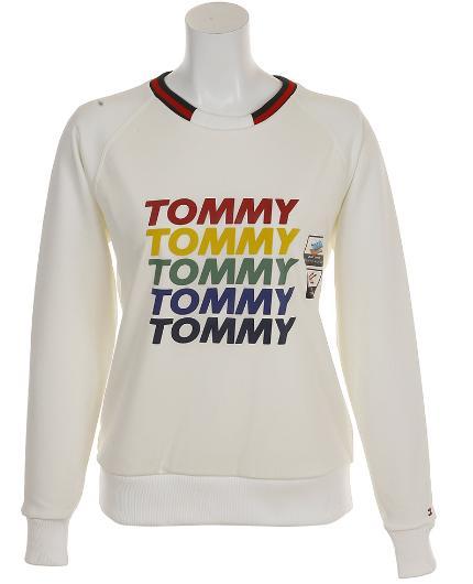 TOMMY HILFIGER GOLF THLA868トミーヒルフィガー ゴルフ レディースTHロゴ クルーネック スウェット
