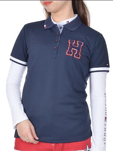 TOMMY HILFIGER GOLF THLA907トミーヒルフィガー ゴルフ レディース半袖ポロシャツ