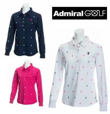 Admiral GOLF ADLA894アドミラル ゴルフ レディース総柄ランパント L/S シャツ