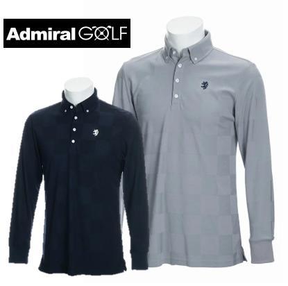 Admiral GOLF ADMA890アドミラル ゴルフ メンズチェックリンクス L/S BDシャツ