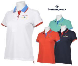 MunsingwearMGWNJA07マンシングウェア レディースペンギン刺繍 サンスクリーン 半袖ポロシャツ