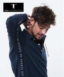 T-MAC GOLF P51ティーマック ゴルフ メンズ長袖ポロシャツ