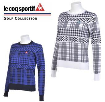 le coq sportif GOLF QGWMJL08ルコックスポルティフ ゴルフ レディース NATURE-TECH パネルボーダーセーター