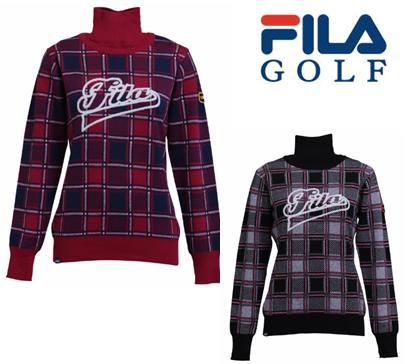 FILA GOLF798-702フィラ ゴルフ レディースセーター(ネックウォーマー付)