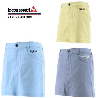 le coq sportif GOLF QGWNJE07ルコックスポルティフ ゴルフ レディース シャンブレーキュロットスカート