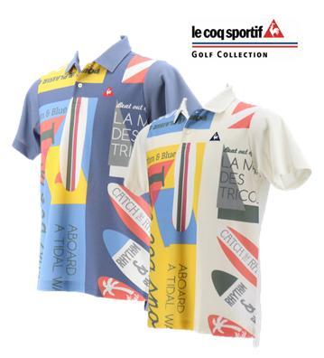le coq sportif GOLF QGMNJA24ルコックスポルティフ ゴルフ メンズ サーフデザインポロシャツ