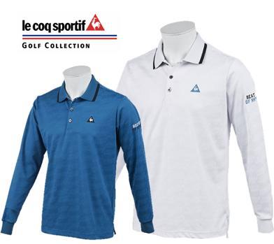 le coq sportif GOLF QGMNJB00ルコックスポルティフ ゴルフ メンズ CDジャガード 長袖ポロシャツ