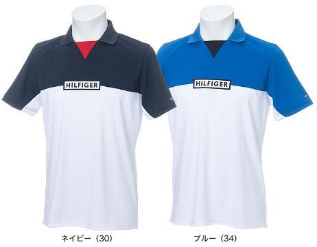 TOMMY HILFIGER GOLF THMA936トミーヒルフィガー ゴルフ メンズスキッパーネック半袖ポロシャツ