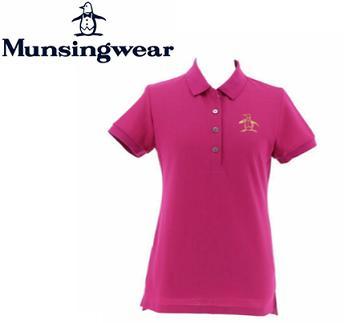 MunsingwearMGWNGA02マンシングウェア レディースラインストーン風ビッグペンギン半袖シャツ