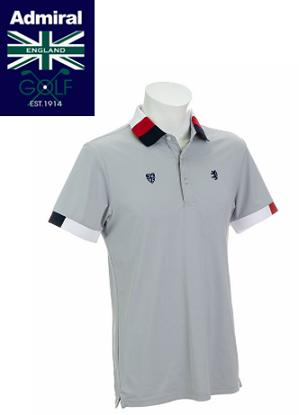 Admiral GOLF ADMA903アドミラル ゴルフ メンズトリコロール襟 ポロシャツ
