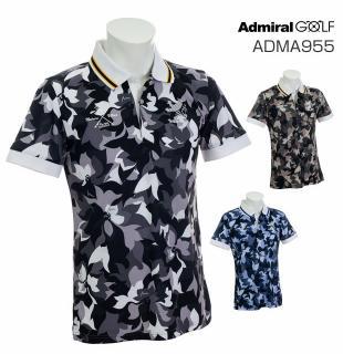Admiral GOLF ADMA955アドミラル ゴルフ メンズフラワーカモ柄 ポロシャツ