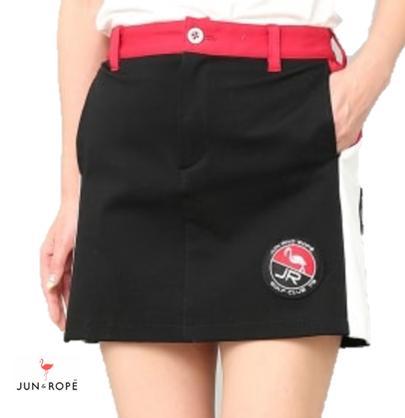 JUN&ROPEERC-59020ジュン&ロペ レディースポンチカラーブロックスカート