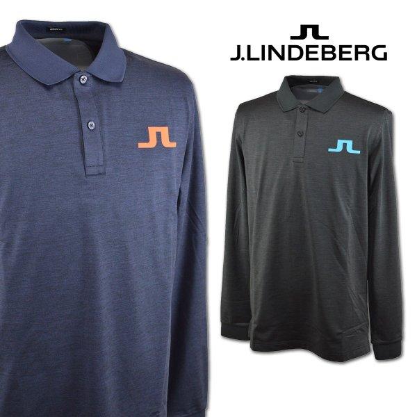 J.LINDBERG 071-21915 Jリンドバーグ長袖ポロシャツ