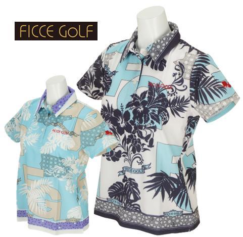 \12月26日~30日/エントリーで全品10倍以上FICCE GOLF 292302フィッチェ ゴルフ レディースエスニックリゾート柄 半袖ポロシャツ