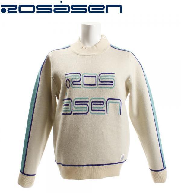 Rosasen 045-18011ロサーセン レディース3ジャカード 切り替えセーター 蓄熱裏地付く