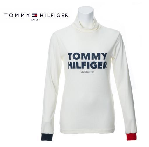\12月26日~30日/エントリーで全品10倍以上TOMMY HILFIGER GOLF THLA9768トミーヒルフィガー ゴルフ レディースLOGO STRETCH TURTLE NECK SHRTS