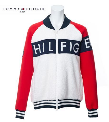 TOMMY HILFIGER GOLF THLA976トミーヒルフィガー ゴルフ レディースBOA FLEECE GOLF MA-1 JACKET