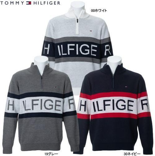 TOMMY HILFIGER GOLF THMA969トミーヒルフィガー ゴルフ メンズHILFIGER HALF-ZIP KNIT