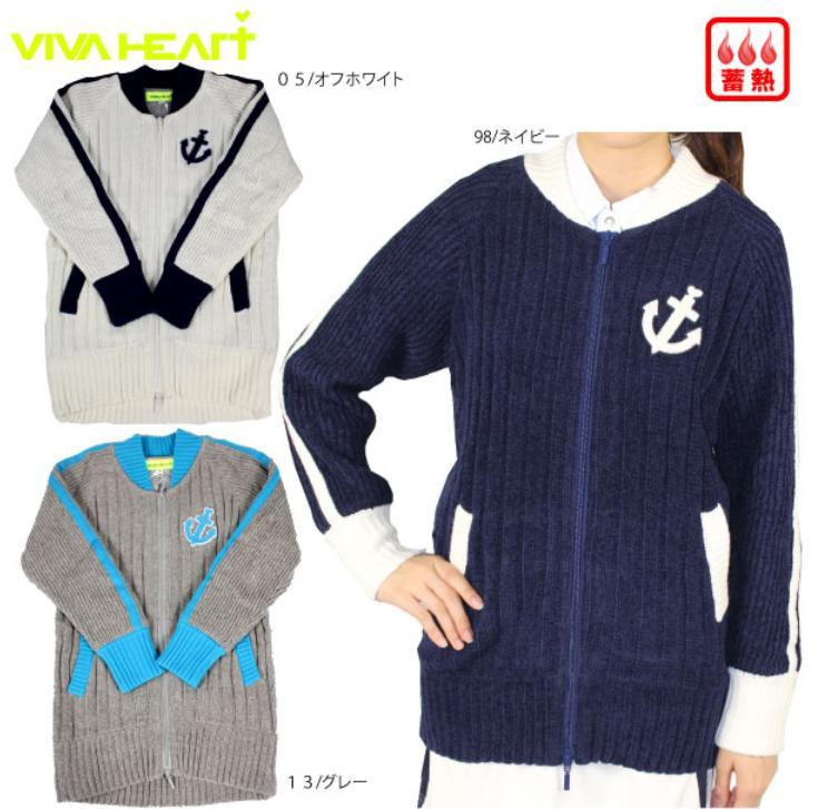 VIVA HEARTビバハート レディース ニットブルゾン012-56113