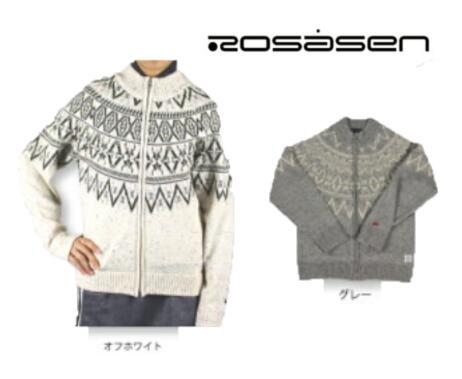 Rosasen 045-16110ロサーセン レディースニット ブルゾン