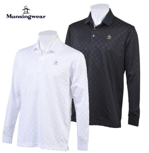 Munsingwear MGMOGB13マンシングウェア メンズブライトチェック長袖シャツ