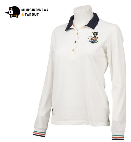 Munsingwear MGWOGB12マンシングウェア レディースタロアウト リバーシブルカラー長袖シャツ