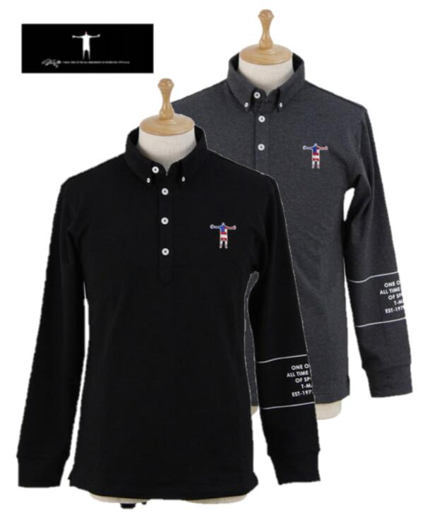 T-MAC AP02Mティーマック メンズ長袖ポロシャツ