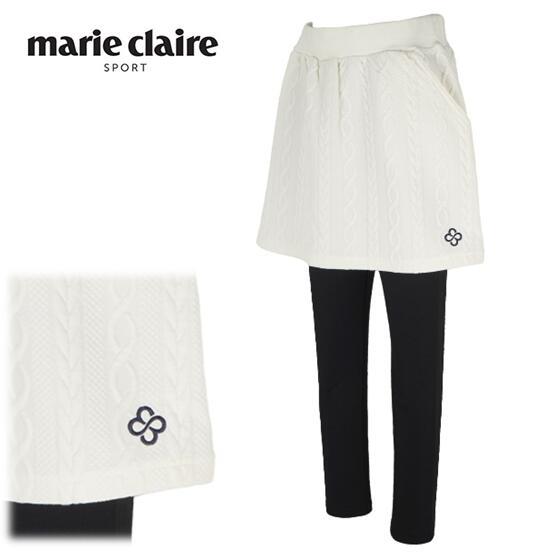 \12月26日~30日/エントリーで全品10倍以上marie claire sport 739-322マリ・クレール スポール レディースレギンス付き ストレッチスカート