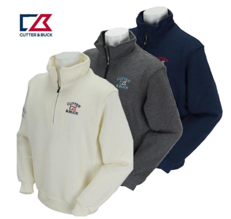 CUTTER&BUCK CBM4636カッター&バック メンズハーフジップ 長袖シャツ