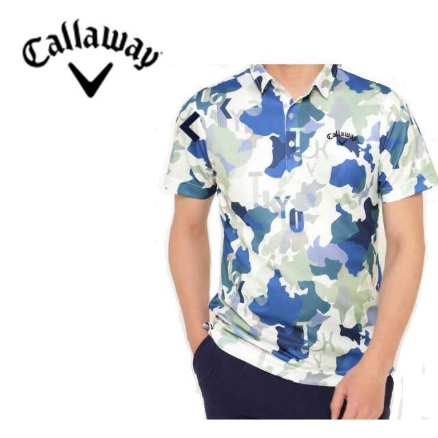 Callaway Apparel241-0134525キャロウェイ アパレル メンズマッププリント半袖シャツ