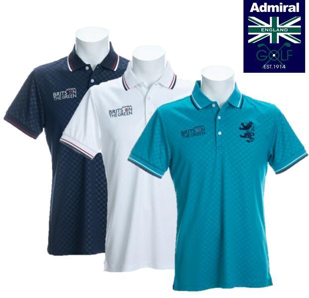Admiral GOLF ADMA019アドミラルゴルフ メンズチェックエンボス ポロシャツ