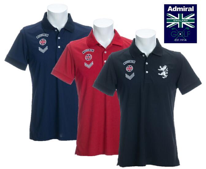 Admiral GOLF ADMA024アドミラルゴルフ メンズワッペン ポロシャツ