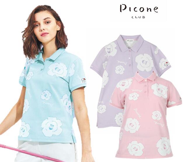 PICONE CLUBC959324ピッコーネクラブ レディース半袖ポロシャツ