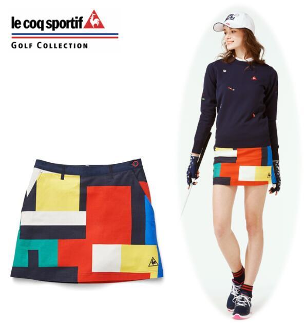 【期間限定価格】le coq sportif GOLFQGWPJE01ルコックスポルティフ ゴルフ レディース渋谷アートプリントスカート