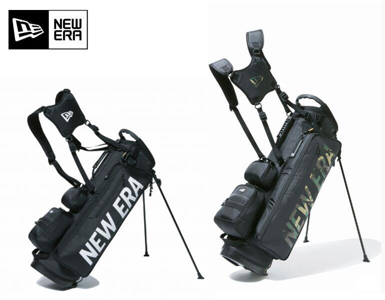 NEWERA GOLF11901502/12325911ニューエラ ゴルフプリントロゴスタンド式 キャディバッグベーシックポーチ付き