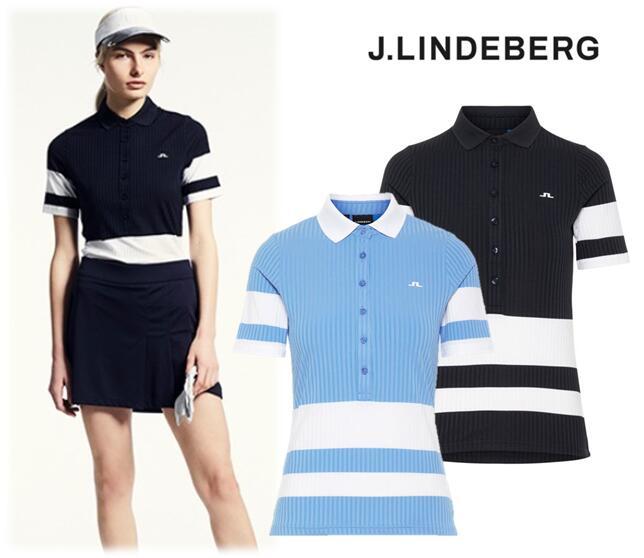 J.LINDEBERG072-22348ジェイリンドバーグ レディースNATASHA POLO SHIRT