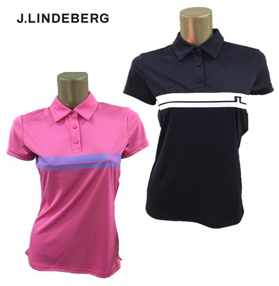 マーケティング 授与 2020年春夏モデル J.LINDEBERG072-22343ジェイリンドバーグ レディースラインブリッジポロシャツ