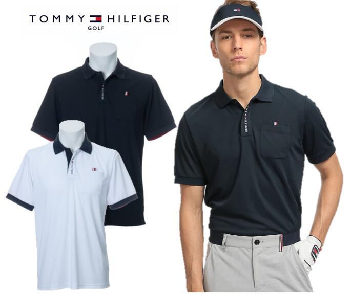 TOMMY HILFIGER GOLFTHMA008トミーヒルフィガー ゴルフ メンズロゴポロシャツ
