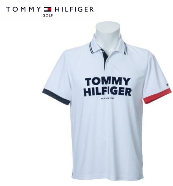 TOMMY HILFIGER GOLFTHMA010トミーヒルフィガー ゴルフ メンズTH LOGO 半袖ポロシャツ