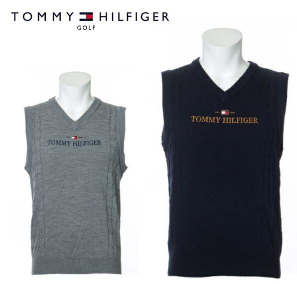 2020年秋冬モデル TOMMY チープ HILFIGER GOLFTHMA055トミーヒルフィガー ニットベスト 限定タイムセール LG ゴルフ メンズTH