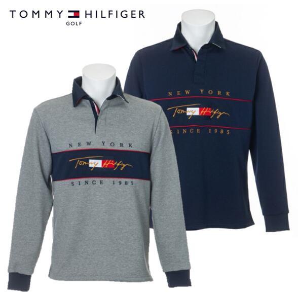 2021年秋冬モデル TOMMY HILFIGER GOLFTHMA157トミーヒルフィガー メンズTH 公式通販 ゴルフ ラグビーシャツ 70%OFFアウトレット