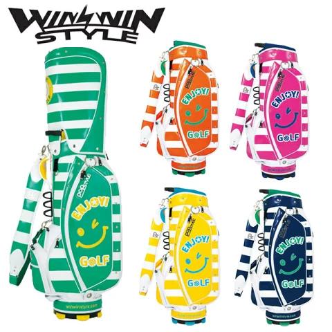 ウィンウィンスタイル WINWIN STYLE ゴルフ キャディバッグ ENJOY GOLF CART BAG BORDER CB-614,CB-615,CB-616,CB-617,CB-618 2017