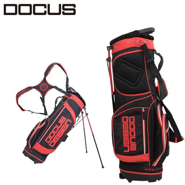 (アウトレット)ドゥーカス DOCUS メンズゴルフ スタンドバッグ 8.5型 DCC713 BLACK×RED ブラック×レッド あす楽