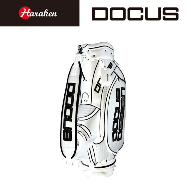 ドゥーカス DOCUS メンズ ゴルフ キャディバッグ 9インチ ツアーモデルキャディバッグ DCC722 White×Black あす楽