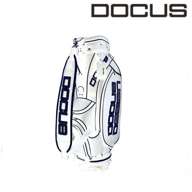 ドゥーカス DOCUS メンズ ゴルフ キャディバッグ 9インチ ツアーモデルキャディバッグ DCC722 White×Navy あす楽