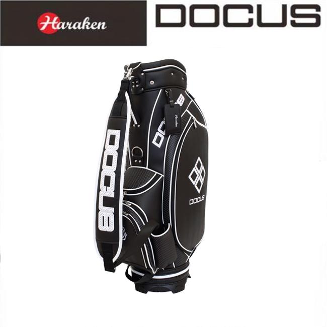 ドゥーカス DOCUS メンズ ゴルフ キャディバッグ 9インチ スタイリッシュキャディバッグ DCC723 Black×White あす楽