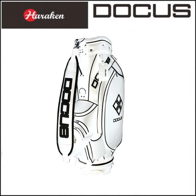 ドゥーカス DOCUS メンズ ゴルフ キャディバッグ 9インチ スタイリッシュキャディバッグ DCC723 White×Black あす楽