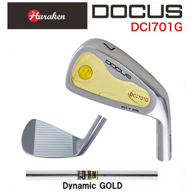 ドゥーカス DOCUS メンズゴルフクラブ アイアン DCI701G 6本セット(#5-PW) Dynamic Gold S200 シャフト