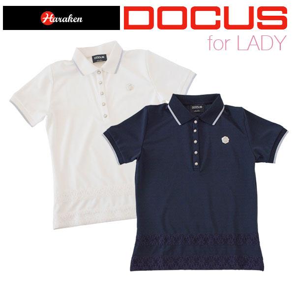 ドゥーカス DOCUS レディース ゴルフ ウェア レース ポロ シャツ DCL17S001 あす楽